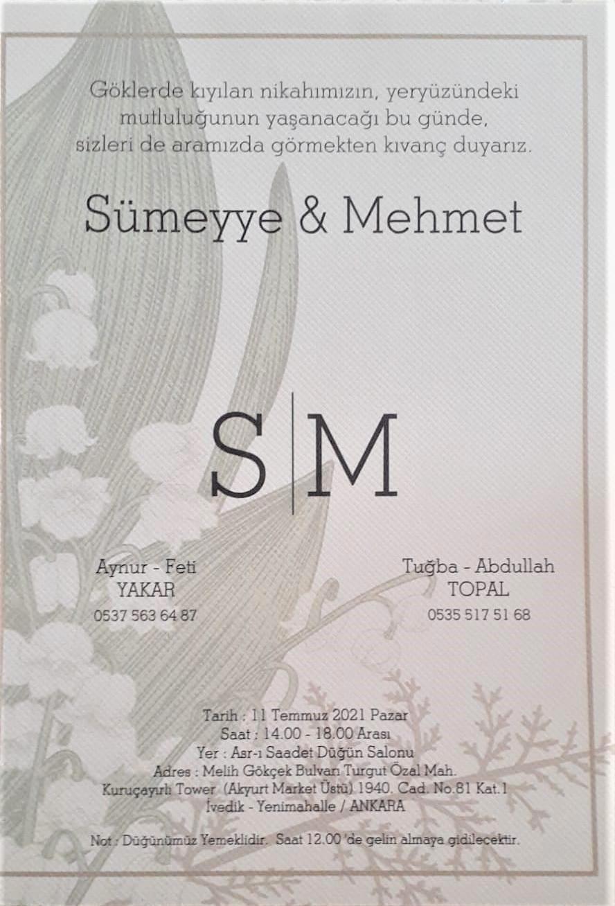 Düğün Sümeyye & Mehmet
